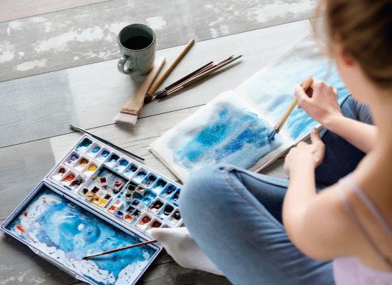 אומנות, צביעה, הכנת ציור